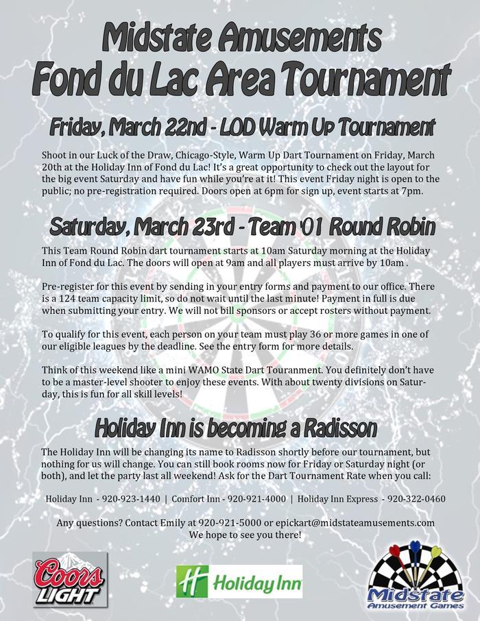Midstate Amusements - Dart Tournament